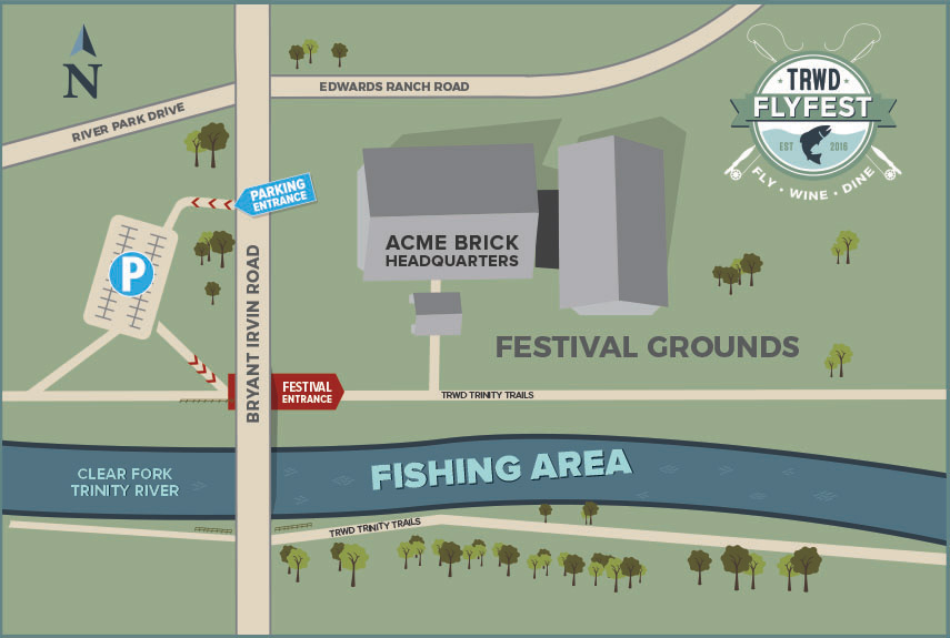 TRWD Flyfest Map